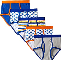 Football Cotton Briefs 5-Pack (Toddler/Little Kids/Big Kids)