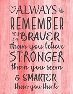 Always Remember You are Braver than you believe - Stronger than you seem & Smarter thank you think: Inspirational Journal - Notebook to Write In for ... Journals - Notebooks for Women & Girls)
