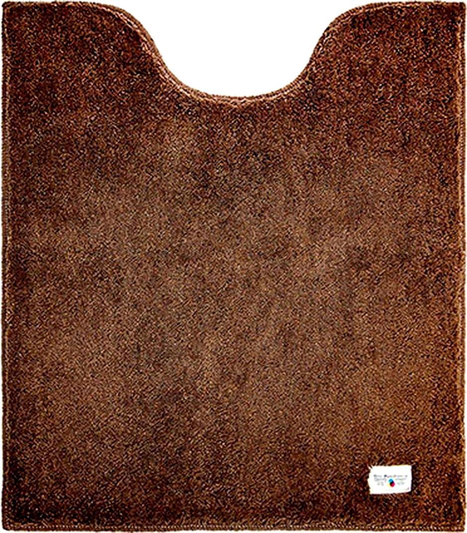 利益和ストレージカラーモードプレミアム ロング トイレマット 80×70cm ブラウン