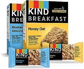 KIND Breakfast Bars Variety Pack, Blueberry Almond & Honey Oat, 1.8oz, 16 Count