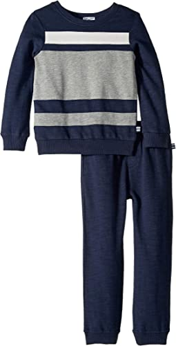 Color Block Sweatshirt Set (Little Kids/Big Kids)