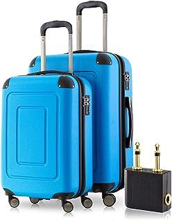 Happytrolley Luggage Set, Blue (Cyan Blue), 66 Centimeters