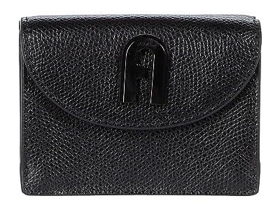 Furla 1927 Small Trifold (Nero) Handbags