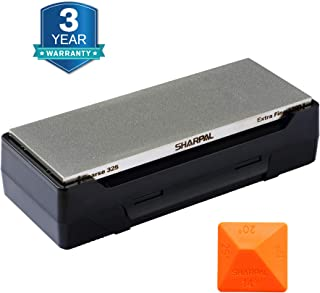 SHARPAL 162N Diamond Whetstone Knife Sharpener with Storage Base | 2 Side Grit Coarse 325..