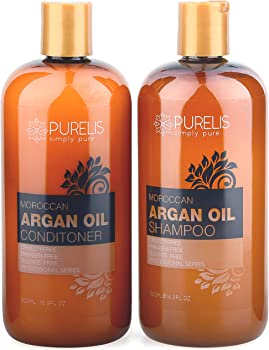 Purelis Argan Oil Shampoo and Conditioner Set 16.9 oz.