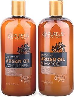 Sponsored Ad - Purelis Argan Oil Shampoo and Conditioner Set, Specialty Formula with Keratin & Dead Sea Minerals. Restores...