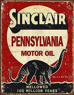 Desperate Enterprises Sinclair Pennsylvania Motor Oil - Million Years Tin Sign, 12.5