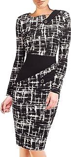 HOMEYEE - Vestido - Túnica - Manga Larga - para Mujer B231