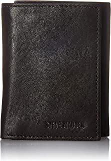 Men's Leather RFID Trifold Wallet with ID Window