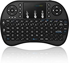 Black Wireless Mini Ultra Slim Keyboard and Mouse For Easy Smart TV Contol for Panasonic TX-L32E6 Smart TV