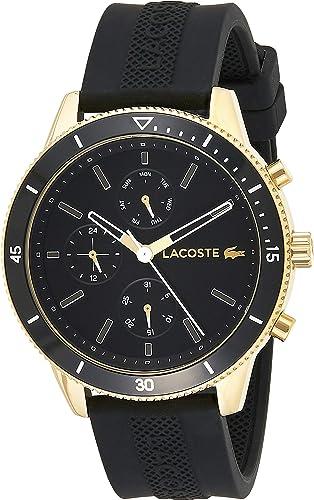 Lacoste Homme Multi-cadrans Quartz Montre avec Bracelet en Silicone 2010994