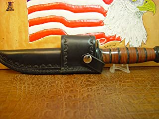 KA-BAR Full Size US Marine Corp Fighting Knife crossdraw BLACK Sheath. Knife NOT included.