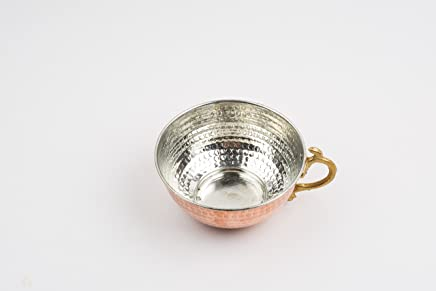 Copper Shaving Bowl &Mug &Cup with Brass Handle for Shaving Brush & Safety Razor