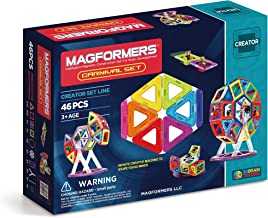 63074 Magformers Creator Carnival Set (46-pieces) Deluxe Building Set. Magnetic Building Blocks, Educational Magnetic Tile...