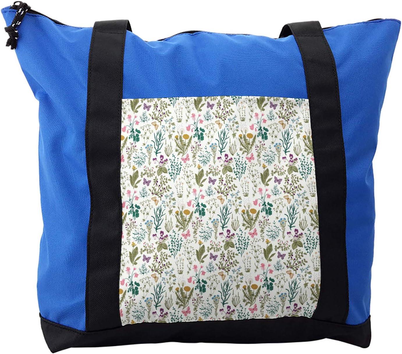 Lunarable Dandelion Shoulder Bag, Colorful Herbs Flowers, Durable with Zipper
