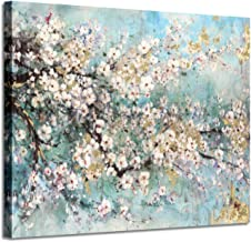 Abstract Wall Art Flower Picture: Dogwood Bloom Painting Artwork Print on Canvas for Bedroom (24