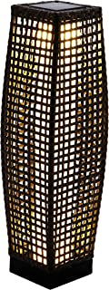 Grand patio Bright Outdoor Floor Lamp, Large-Sized Solar Powered Rattan Light, Weather–Resistant Rattan Floor Lamp for Patio, Deck and Garden