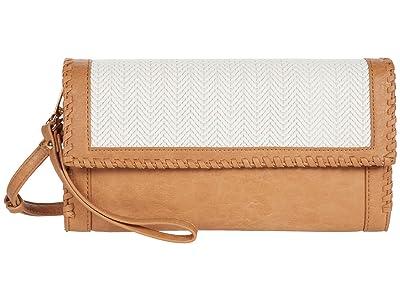 SOLE / SOCIETY Deona Clutch (Camel Combo) Handbags