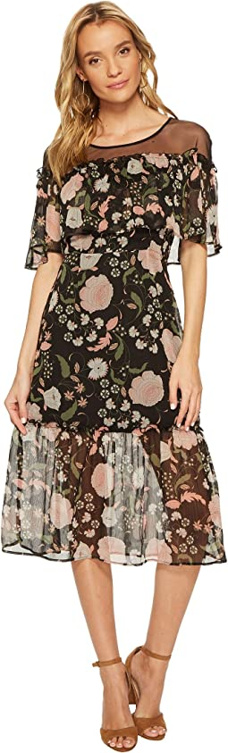 BB Dakota - Rella Floral Print Midi Dress