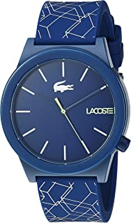 Lacoste Men's Motion Stainless Steel Quartz Watch with Silicone Strap, Blue, 19.7 (Model: 2010957