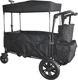 Black Push and Pull Handle/Foot Brake Folding Wagon Baby Stroller Utility CARTFREE Carrying Bag