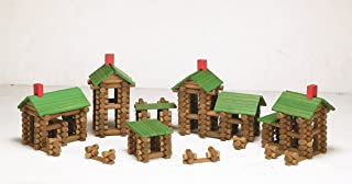 Tumble Tree Timbers Wood Building Set – 450 Pieces. Build Log Cabins. Educational STEM Toy
