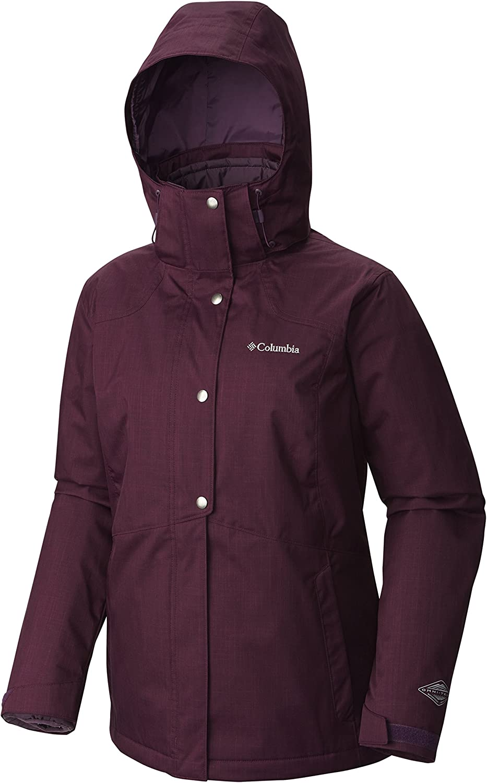 Columbia Womens Bugaboo Casual Interchange 3in1 Ski Jackets Waterproof Insulated, XS, Burgundy