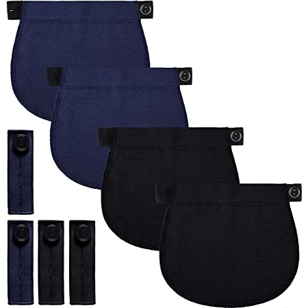 Adjustable Maternity Pants Extender Waistband Extender Pant Button Extenders Black Navy Blue At Amazon Women S Clothing Store