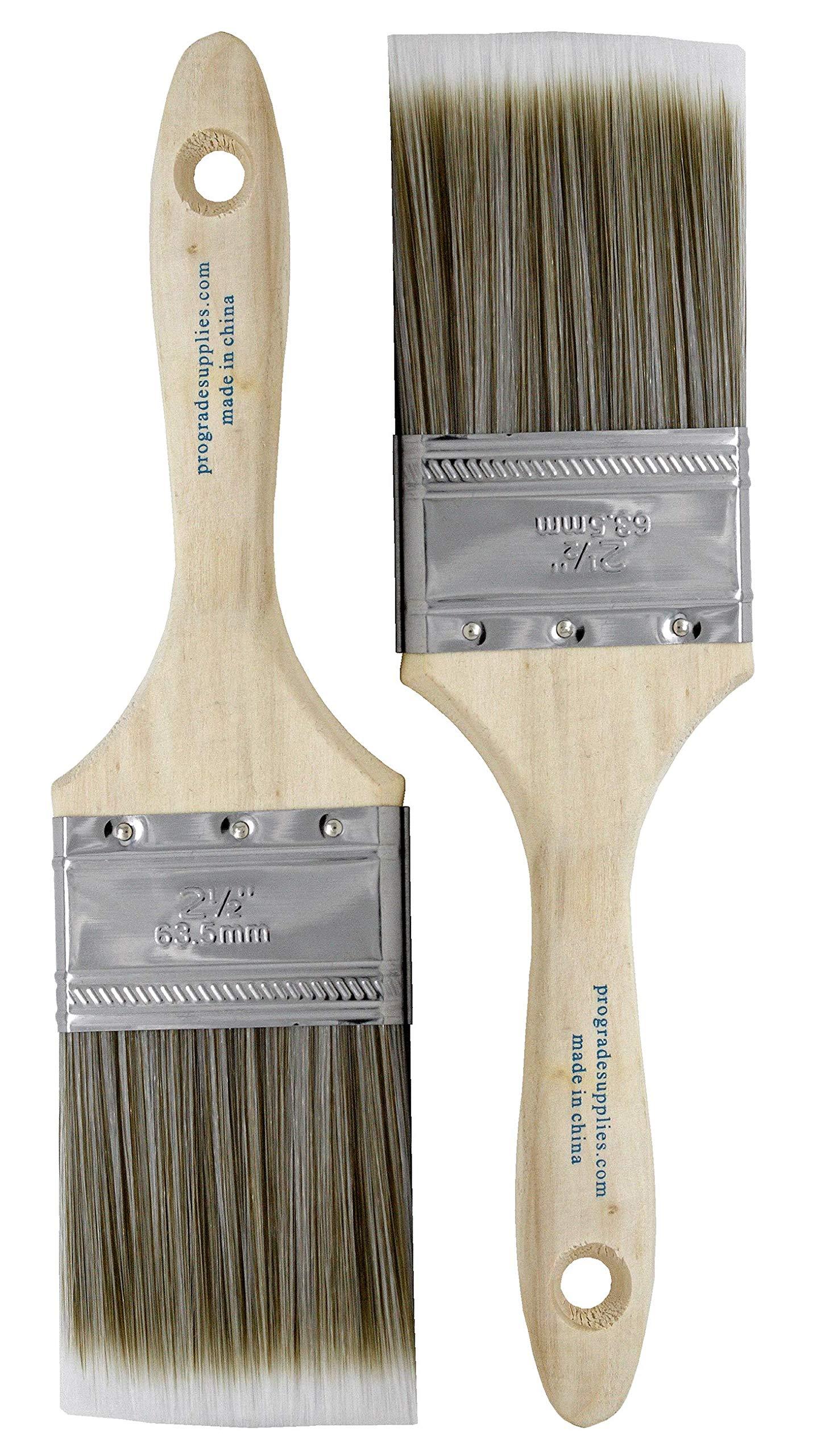 Pro Grade - Paint Brushes - 2Ea 2.5 Flat Brushes