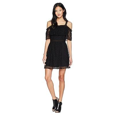 Jack by BB Dakota Aitana Geometric Lace Dress (Black) Women