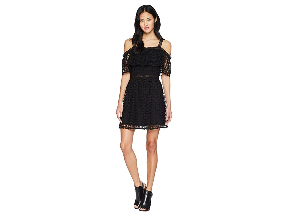 Jack by BB Dakota Aitana Geometric Lace Dress (Black) Women