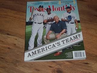 Texas Monthly magazine, May 2011-Texas Rangers Baseball Team-America's Team? Josh Hamilton, Ron Washington, C. J. Wilson & Nolan Ryan on cover.