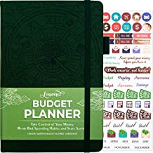 Legend Budget Planner - Deluxe Financial Planner Organizer & Budget Book. Money Planner Account Book & Expense Tracker Notebook Journal for Household Monthly Budgeting & Personal Finance – Dark Green
