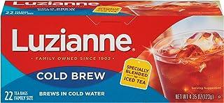 Luzianne Cold Brew Black Tea, Brews in Cold Water, 22 Tea Bags