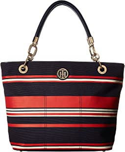 Tommy Hilfiger - Signature Canvas Top Zip Tote