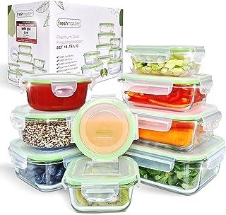 Fresh Master Frischhaltedose Glas Set - Testurteil: SEHR GUT - 100% auslaufsichere + luftdichte Vorratsdosen mit Deckel I ...
