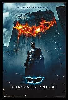 Trends International DC Comics Movie - The Dark Knight - Batman Logo on Fire One Sheet Wall Poster, 22.375