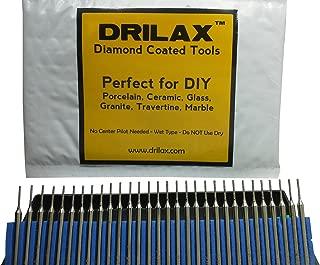 Drilax8482; 30 Pcs Premium 1mm Diamond Drill Bit Burr Set 1/24