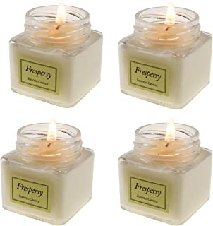 Frespersy Scented Candles Natural Soy Wax with Essential Oil, Fragrance & Aromatherapy & Stress Relief Handmade Glass Jar, Home Decor Gifts Vanilla Citronella English pear Sandalwood Gifts