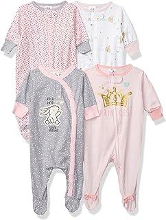 Baby Girls' 4 Pack Sleep 'N Play Footie