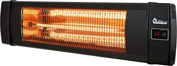 Dr. Infrared Heater 1500W carbon infrared heater indoor outdoor patio garage wall or ceiling Mount with remote, black