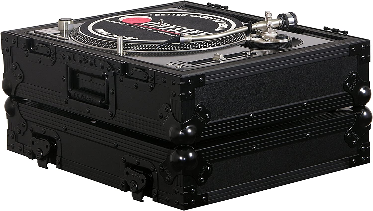 Odyssey Selling and selling FZ1200BL Black Mesa Mall Label Flight Case Turntable
