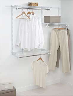 Rubbermaid Configurations Custom Closet Starter Kit, White, 3-6 Foot, FG3E2402WHT