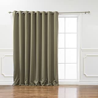 Best Home Fashion Premium Wide Width Thermal Insulated Blackout Curtain - Antique Bronze Grommet Top - Olive - 100