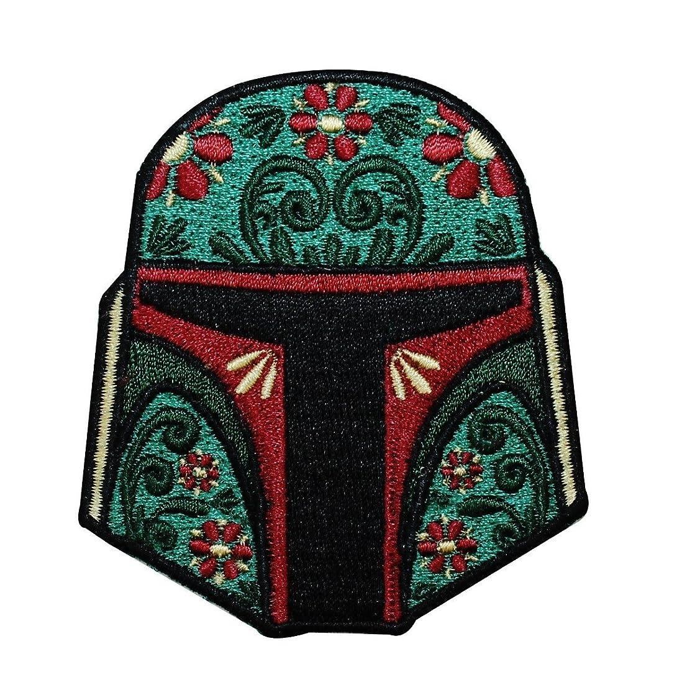 Star Wars Official Boba Fett Helmet Dark Side Force Lucasfilm Iron On Patch