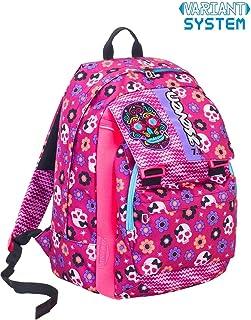 Zaino scuola SEVEN - MEXI GIRL - Rosa - estensibile - VARIANT SYSTEM - 32 LT - elementari e medie inserti rifrangenti