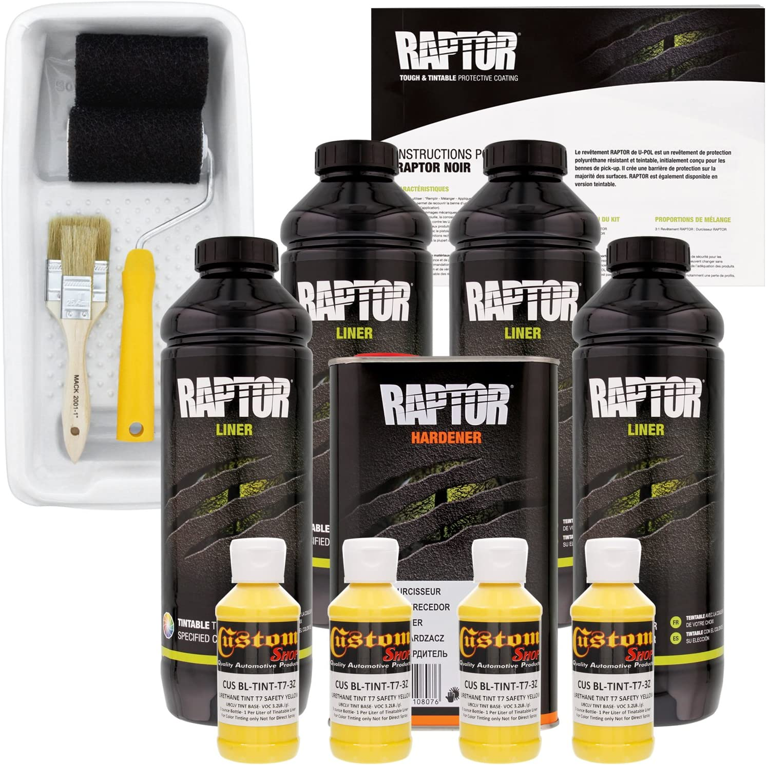 U-POL Raptor Safety Yellow Urethane Liner Bed Truck Kit Special Opening large release sale price for a limited time Spray-On