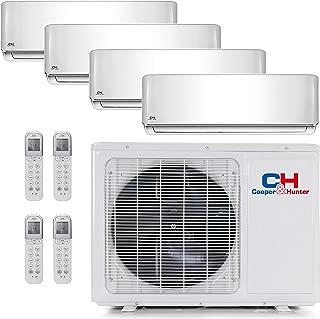 COOPER AND HUNTER Quad 4 Zone Mini Split Ductless Air Conditioner Heat Pump 9000 9000 9000 18000 Multi