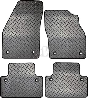 Double Cab Carsio Black Rubber Tailored Car Floor Mats To fit Toyota HI-LUX 2005-2011 3mm 4pc Set