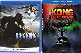 Big Beasts Kong: Skull Island Sons of Kong & King Kong Peter Jackson Movie Pack Blu Ray Double Feature